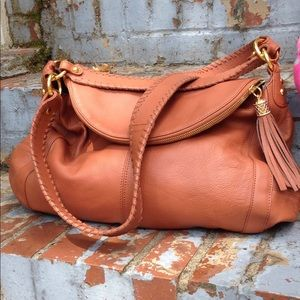 Onna Ehrlich Tan Hobo nice condition Huge!